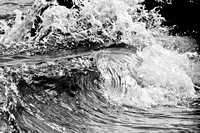 Wailea, Maui waves | black & white