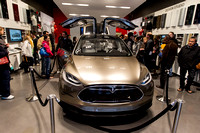 Tesla X Gullwing Electric Car-2