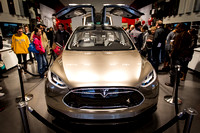 Tesla X Gullwing Electric Car-3