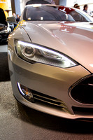 Silver Tesla S Sedan Electric Car-3
